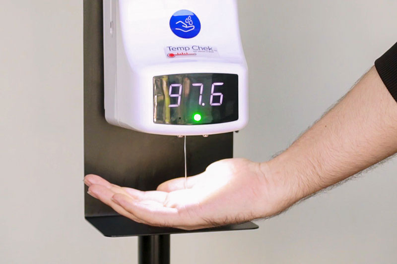 Temp Chek™ readings are displayed in seconds.