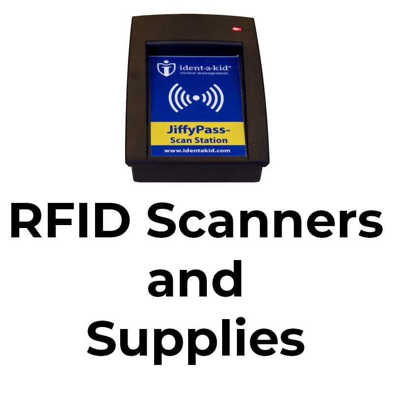 Quickly check-in your schools' visitors and staff with RFID scanners provided by iVisitor Management System.