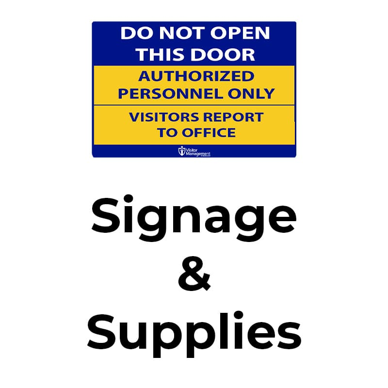 Manage you schools' visitor flow with iVisitor Management signage.