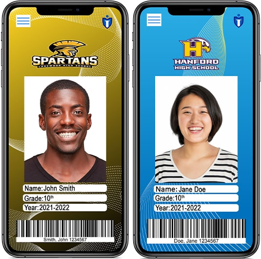 Custom to your School IDs with logo and select colors.