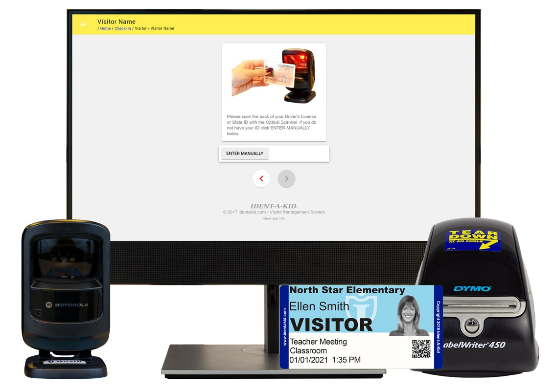 iVisitor Management system screens all school visitors, track student tardies and more.